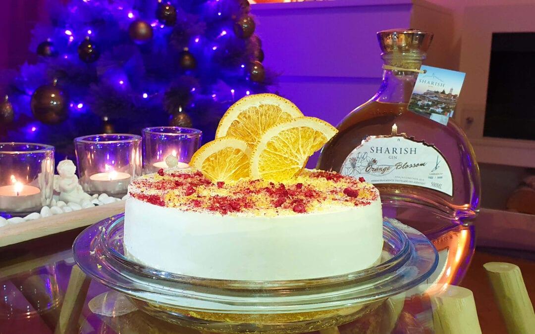 Pomarančna gin tonik torta
